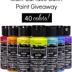 DecoArt Multi-Surface Satin Paint Giveaway
