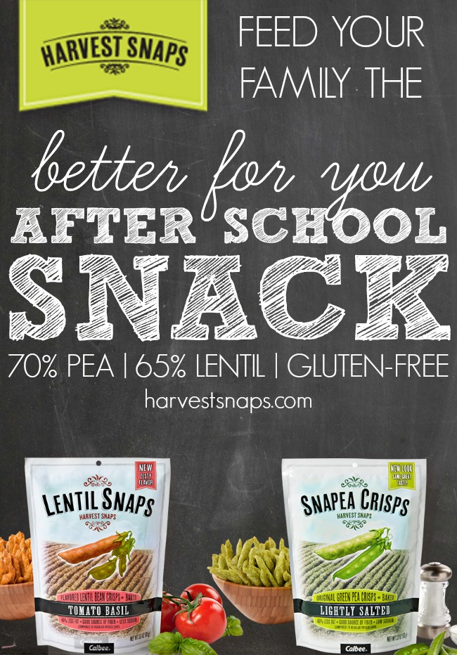 "Harvest Snaps - the perfect ""Better for You"" Back to School Snack! 