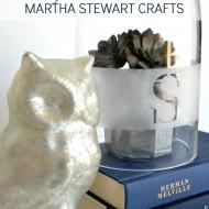 Monogrammed Etched Cloche with Martha Stewart Crafts