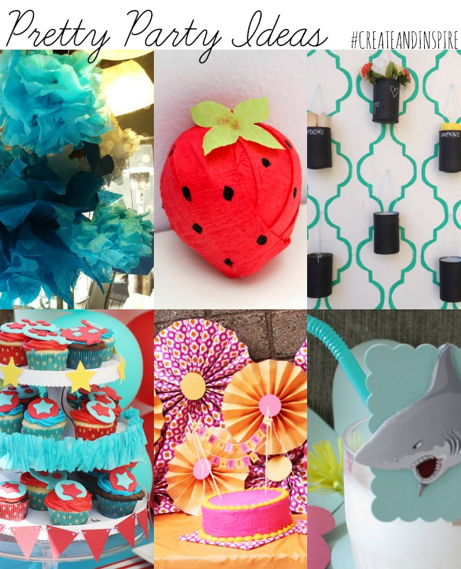 Pretty Party Ideas >> #CreateandInpsire Party Features