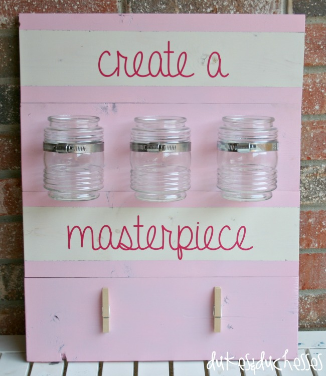 DIY Art Station by dukesandduchesses.com | #DIHWorkshop