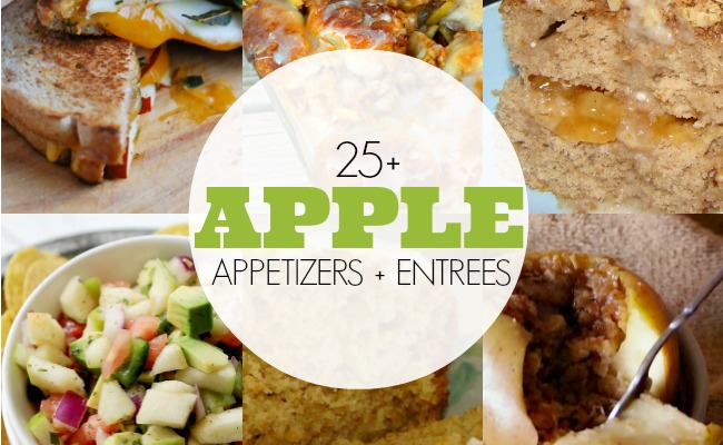 25 Apple Appetizers and Entrees   anightowlblog.com