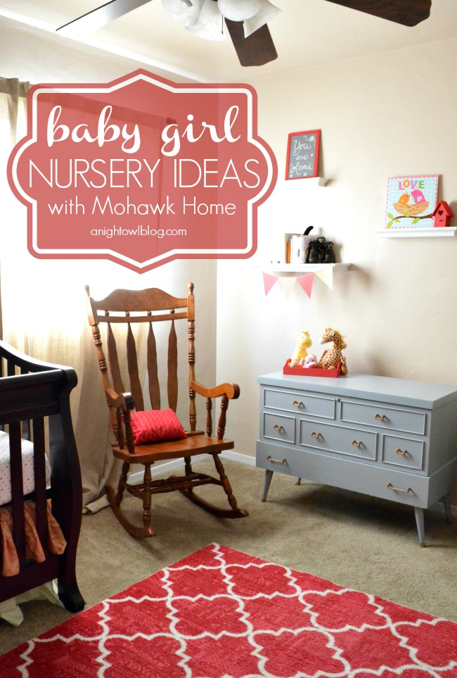 Baby Girl Nursery Ideas | #baby #girl #nursery #decor #mohawkhome