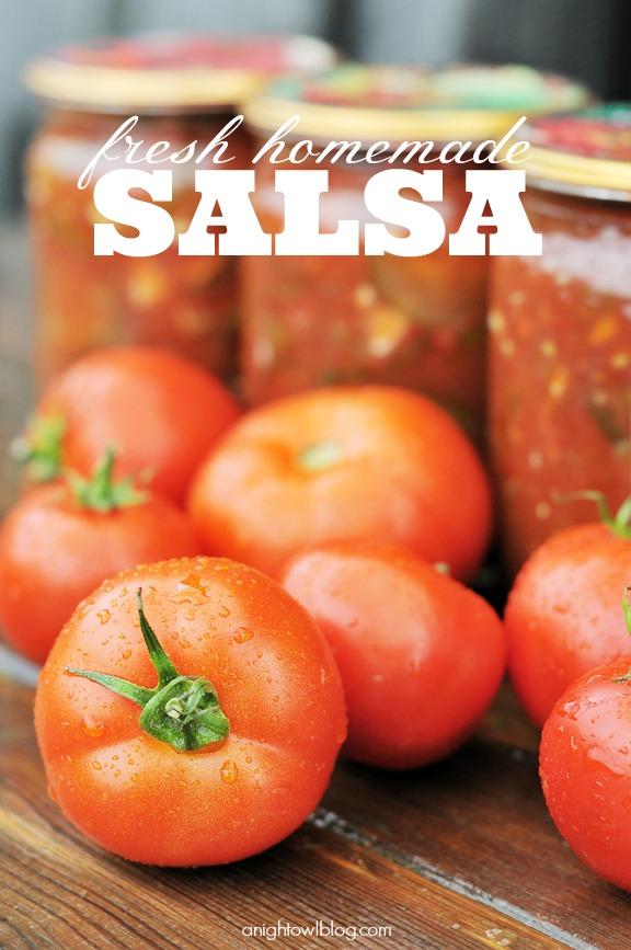 Fresh Homemade Salsa Recipe at anightowlblog.com | #fresh #homemade #salsa #recipes #appetizer