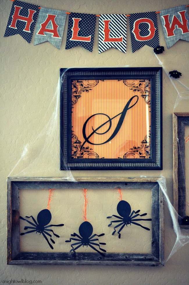 Halloween Gallery Wall with Martha Stewart Crafts at anightowlblog.com | #12monthsofmartha #marthastewartcrafts #halloween #gallerywall