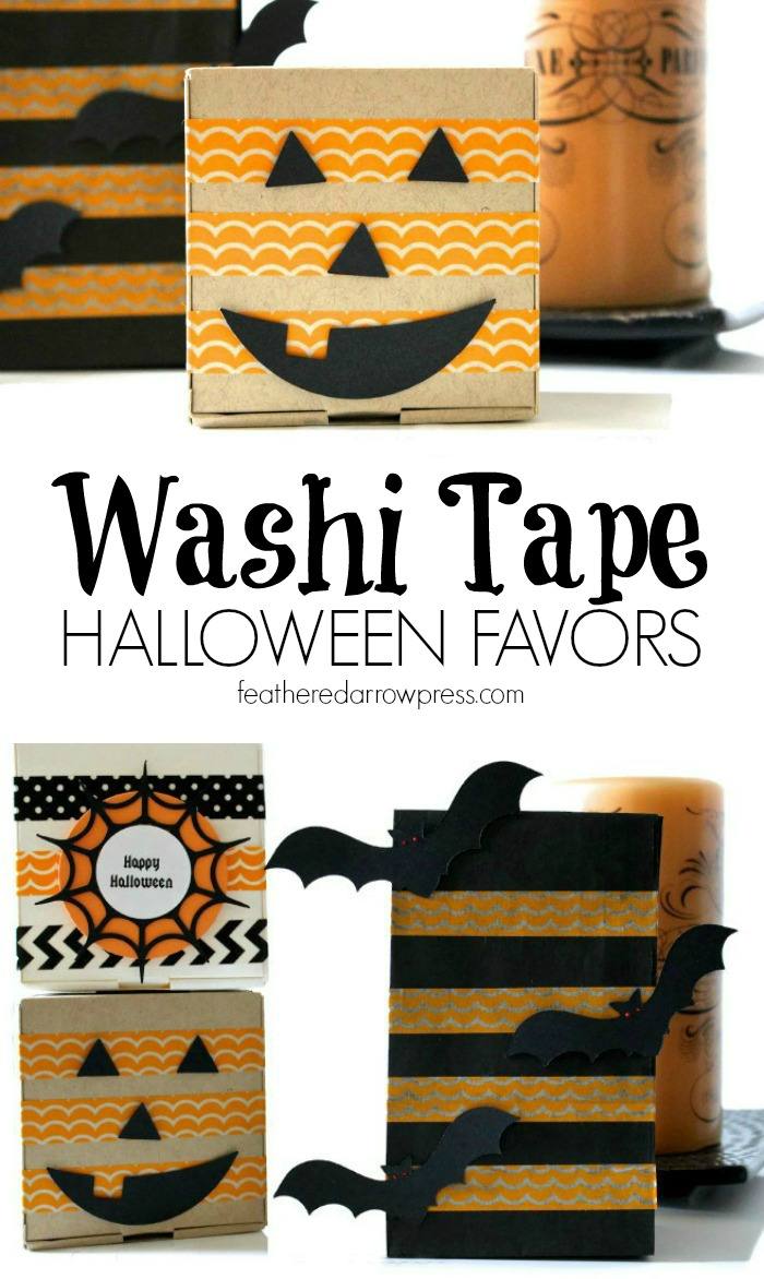 Washi Tape Halloween Favors