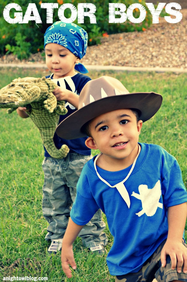 Gator Boys Homemade Halloween Costumes | #GatorBoys #AnimalPlanet #Halloween #Costumes #Kids