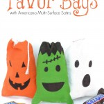 Halloween Favor Bags with Americana Multi-Surface Satins