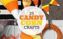 25 Candy Corn Crafts Feature