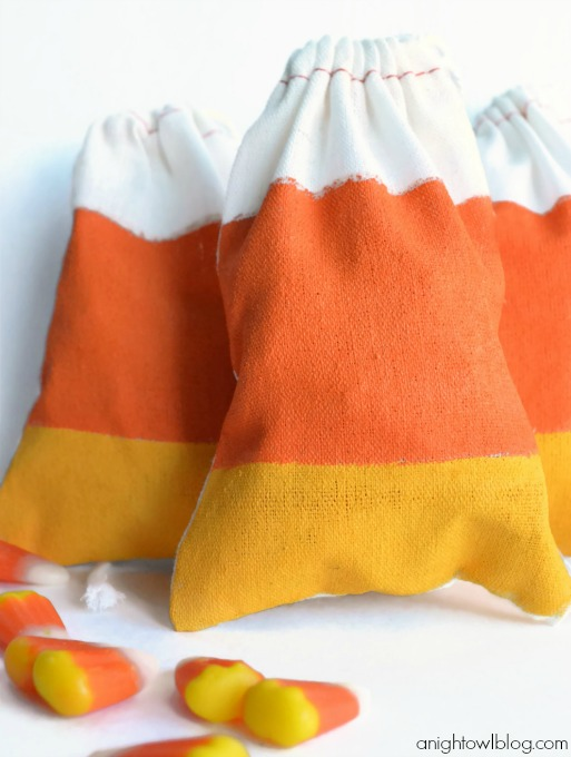 Candy Corn Bags by anightowlblog.com