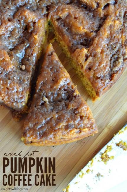 Easy Crock Pot Pumpkin Coffee Cake | anightowlblog.com