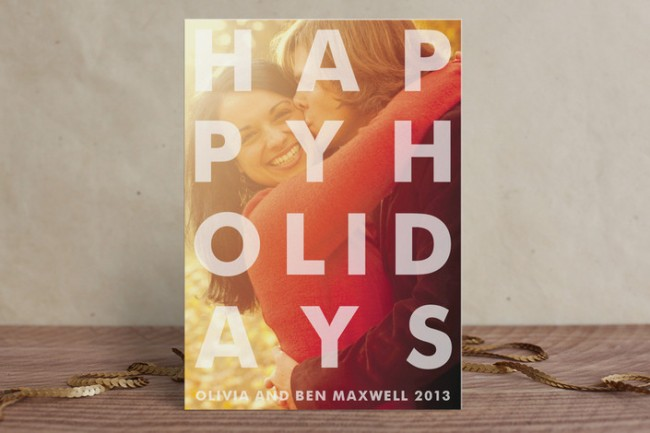Etched Holiday Postcards by Minted