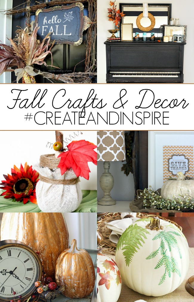 Fall Crafts and Decor >> #CreateandInspire Party Features