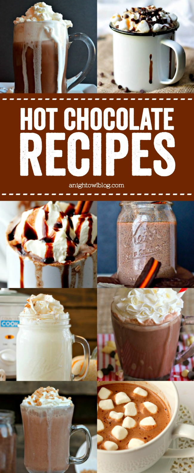 From Salted Caramel Frozen Hot Chocolate to a Spicy Hot Chocolate Mocha, discover over 25 Hot Chocolate Recipes to warm your chilly nights!