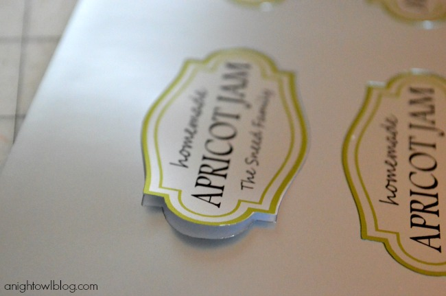 Custom Mason Jar Labels made with Silhouette Printable Silver Foil