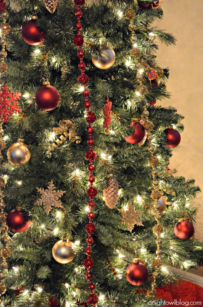 red and gold christmas tree michaels dream tree challenge justaddmichaels - Red And Gold Christmas Decoration Ideas