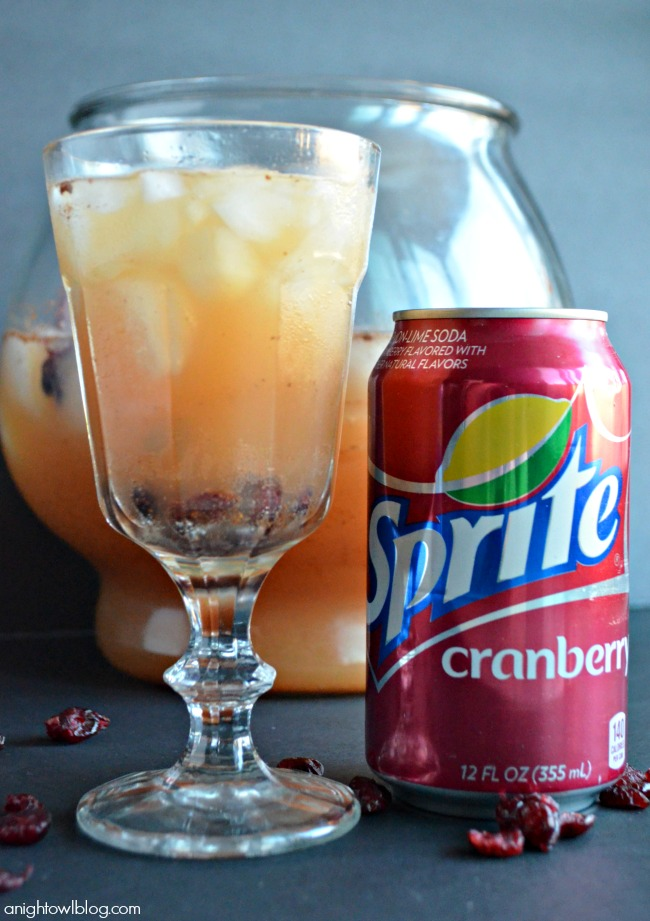 Sprite Cranberry Sparkle - a festive drink made with NEW Sprite Cranberry, perfect for the holidays!