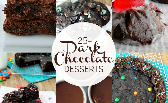 25 Dark Chocolate Dessert Recipes Feature