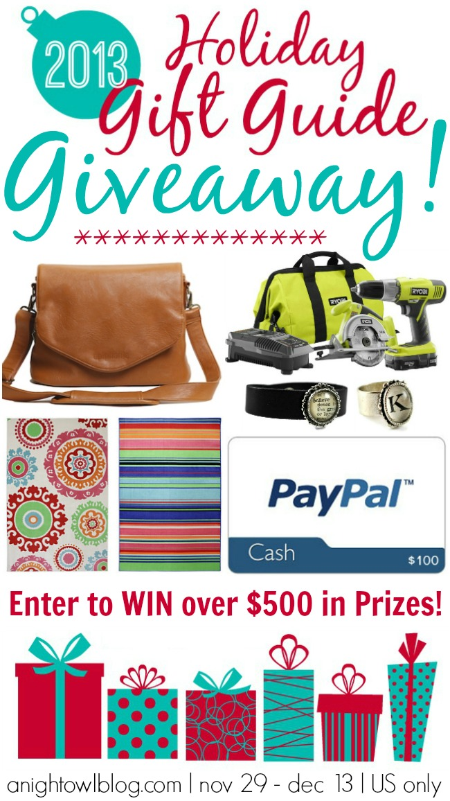 Win over $500 in Prizes at the A Night Owl Gift Guide Giveaway!