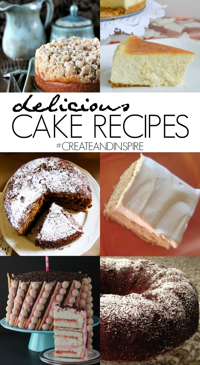 Delicious Cake Recipes >> #CreateandInspire Party Features