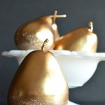 Gilded Glitter Pears with Martha Stewart Crafts