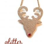 Glitter Reindeer Ornaments