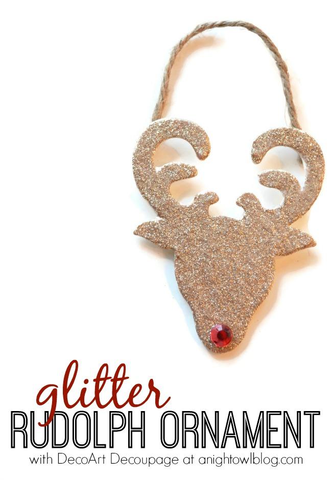 Glitter Reindeer Ornaments 1