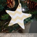 Gold Spray Painted Ornaments