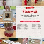 Michaels Pinterest Party – A Recap