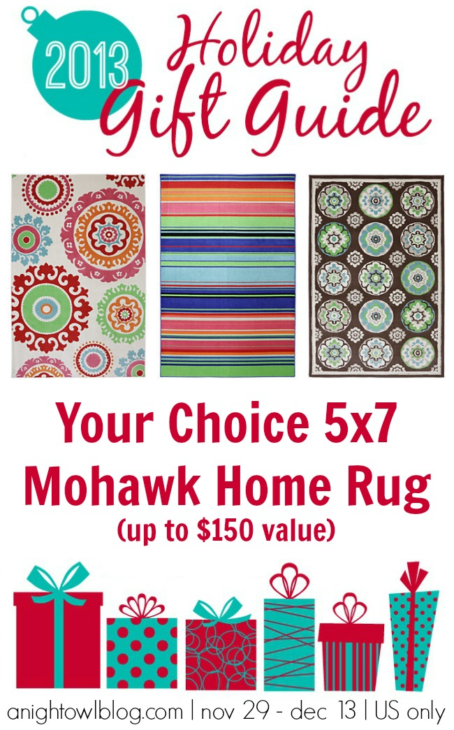 Win a Mohawk Home Rug from the A Night Owl Gift Guide Giveaway!
