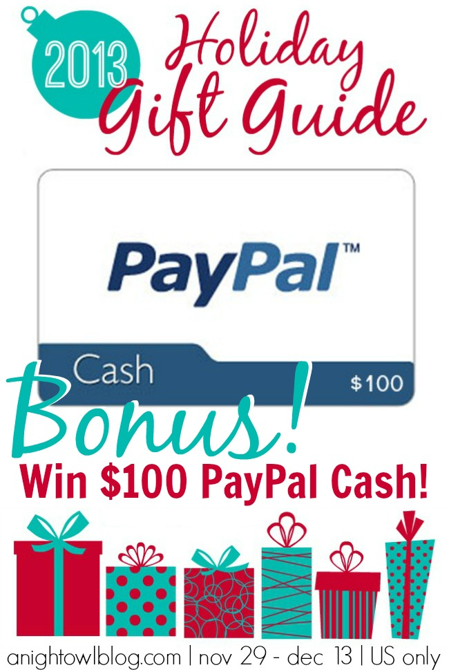Win $100 in PayPal Cash from the A Night Owl Gift Guide Giveaway!