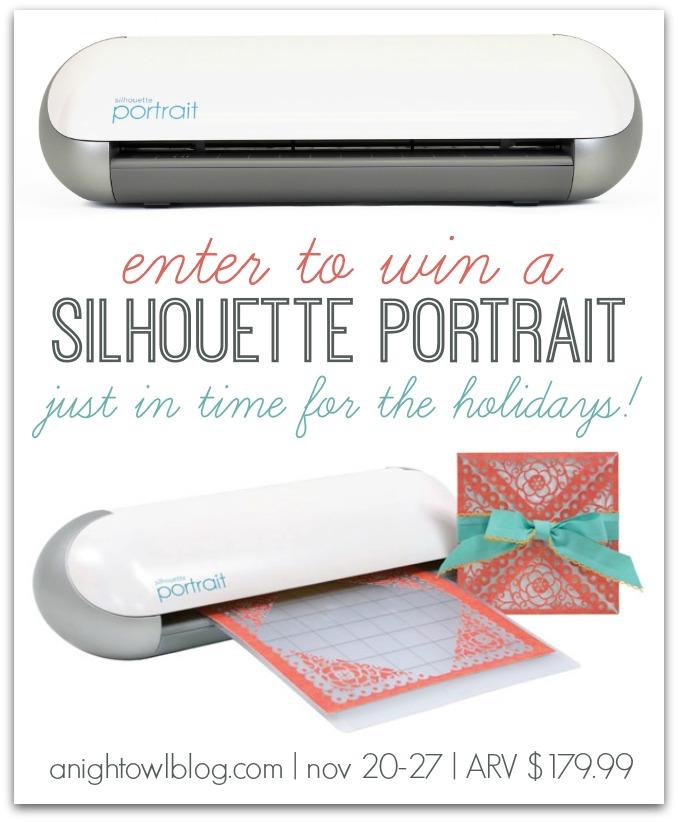 Win a Silhouette Portrait at anightowlblog.com! November 20 - November 28 - ENTER TODAY!
