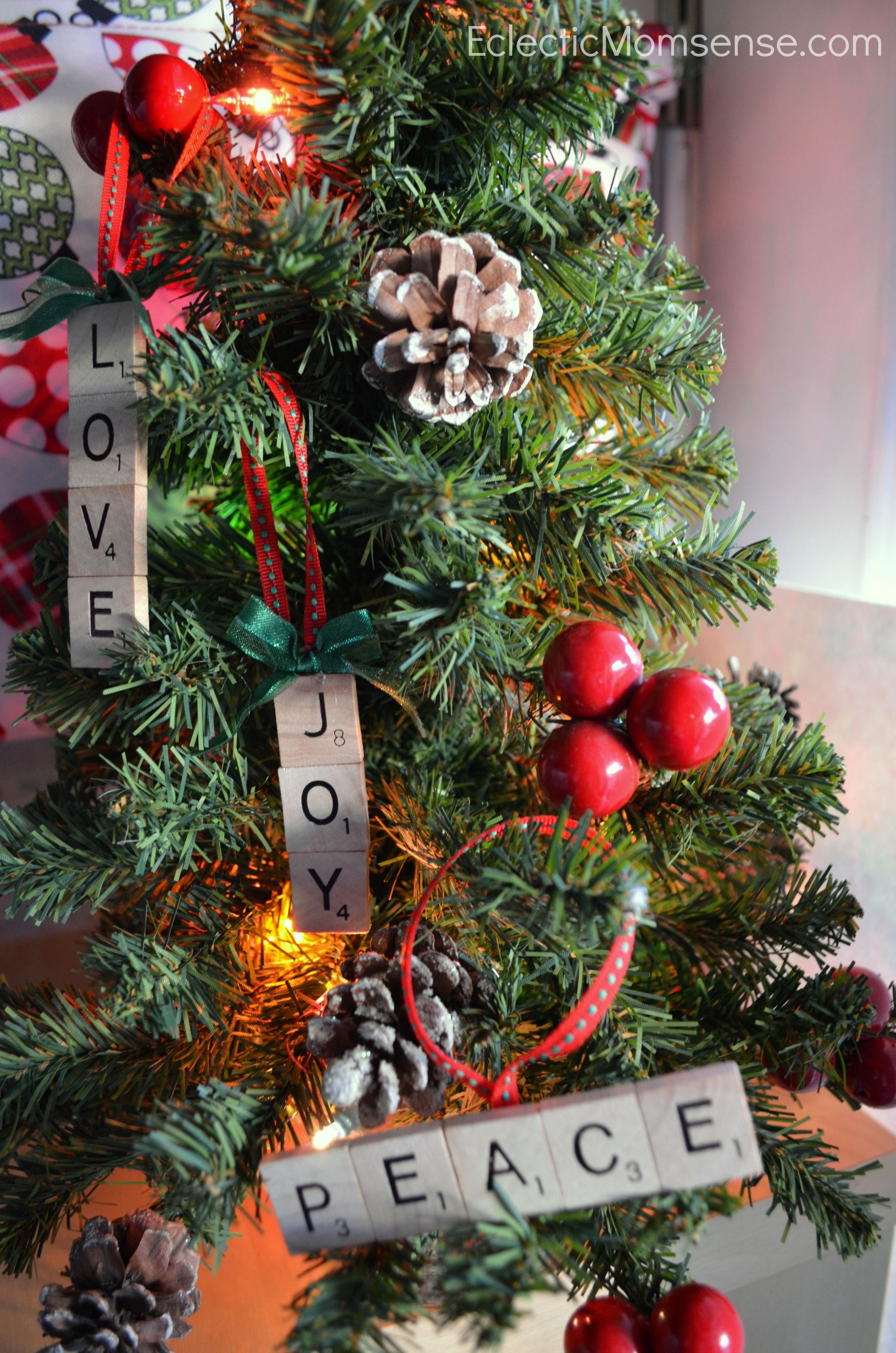 Add fun and whimsy to your tree this holiday season with these DIY Personalized Scrabble Ornaments!