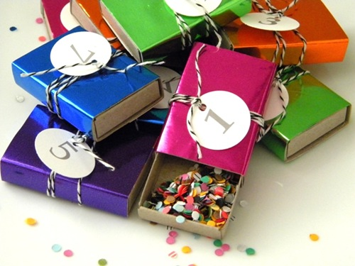 Confetti Countdown Matchboxes by Homework
