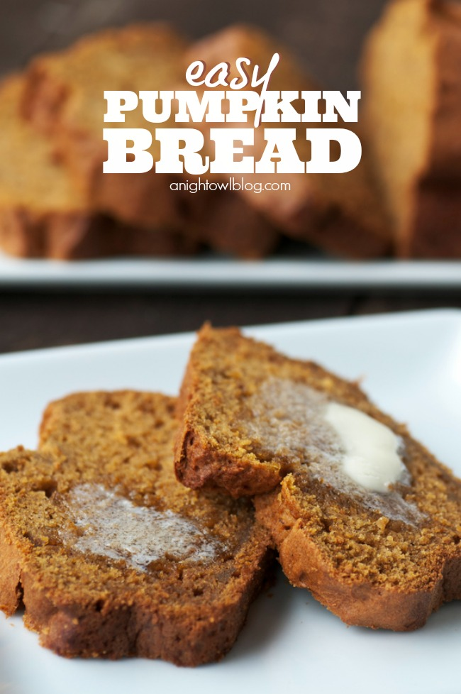 This pumpkin bread recipe is just so yummy and couldn't be easier to make!