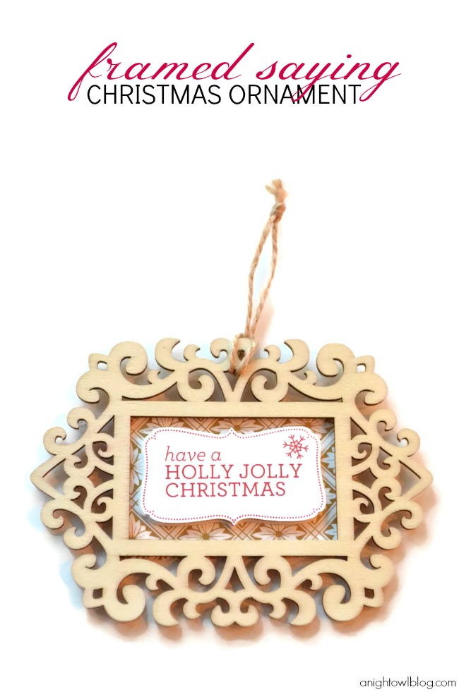 Check out this fun and easy handmade Framed Saying Christmas ornament made with #MarthaStewartCrafts! #12MonthsofMartha