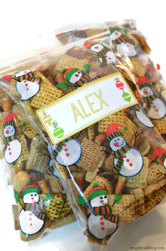 Treat Bags with Martha Stewart Home Office Labels!