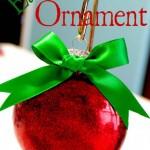 Easy Glitter Ornaments