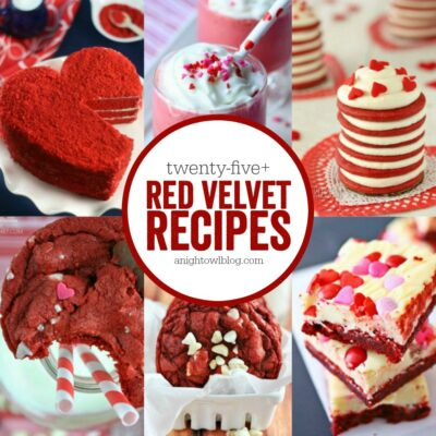So many delicious Red Velvet recipes! Perfect for Valentines!