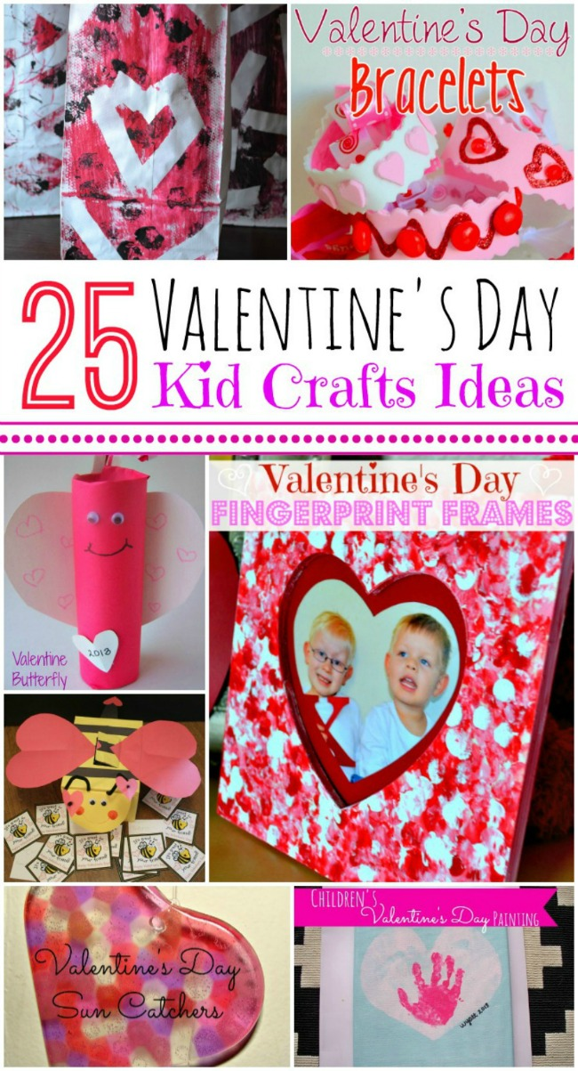 Such a great list of easy Valentine's Day crafts to do with the kids!