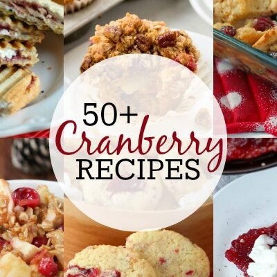 50 amazing Cranberry recipes! From appetizers to desserts, tons of great ideas!