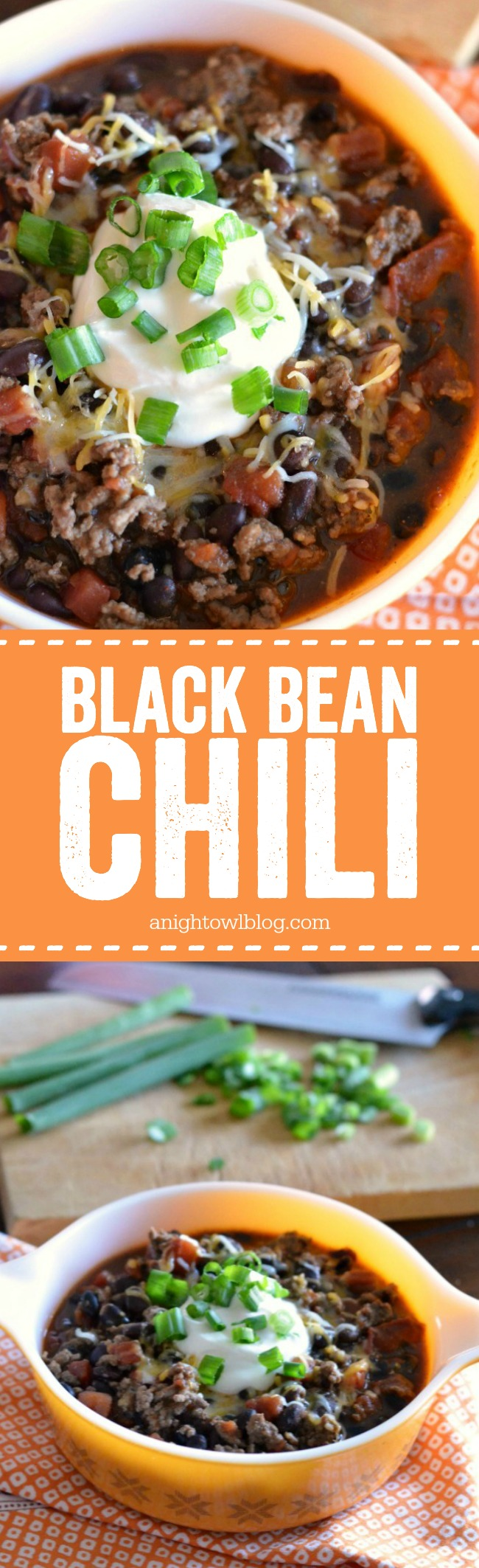This Black Bean Chili is delicious and oh so easy! Great option for a quick weeknight meal!