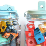 Painted Toy Jars on the DecoArt Blog