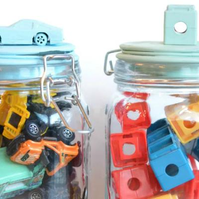 Painted Toy Jars via DecoArt
