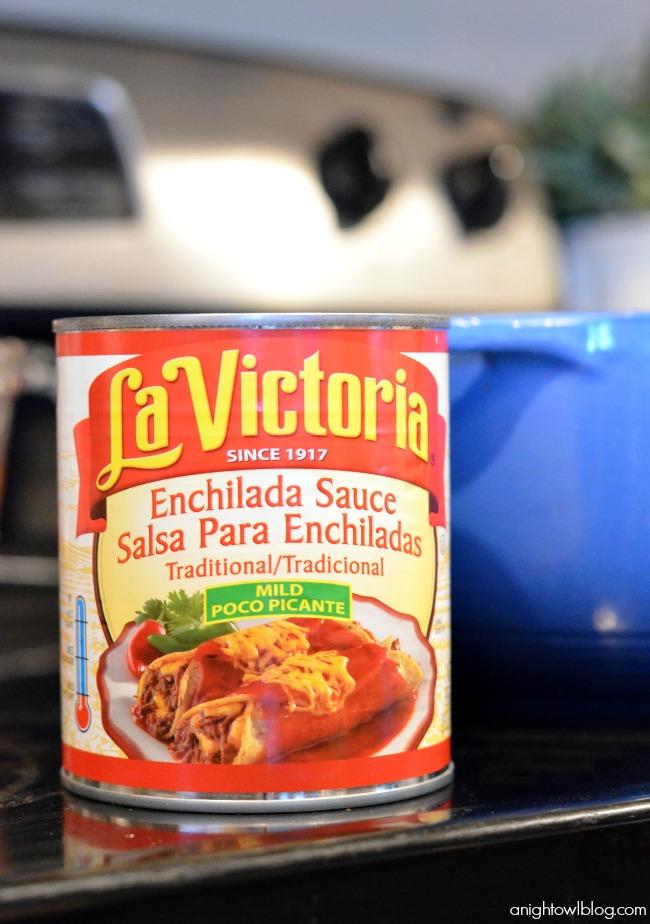 La Victoria Enchilada Sauce - so good!