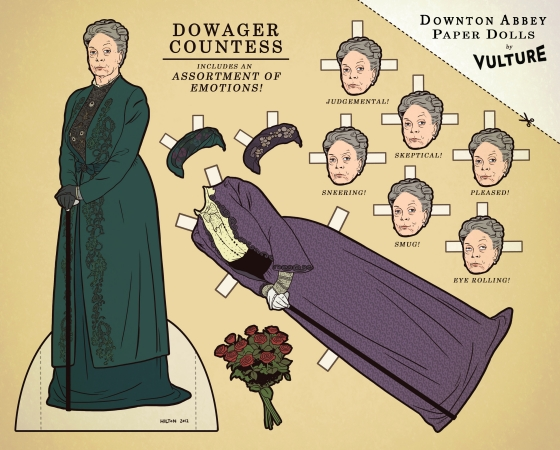 Downton Abbey Paper Dolls by Vulture