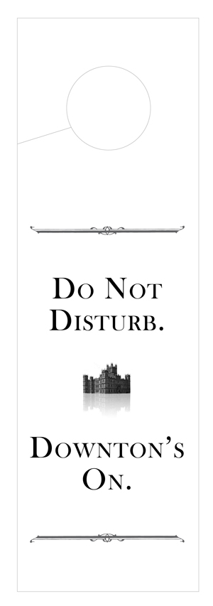 Downton Abbey Door Hanger by The Pixel Boutique