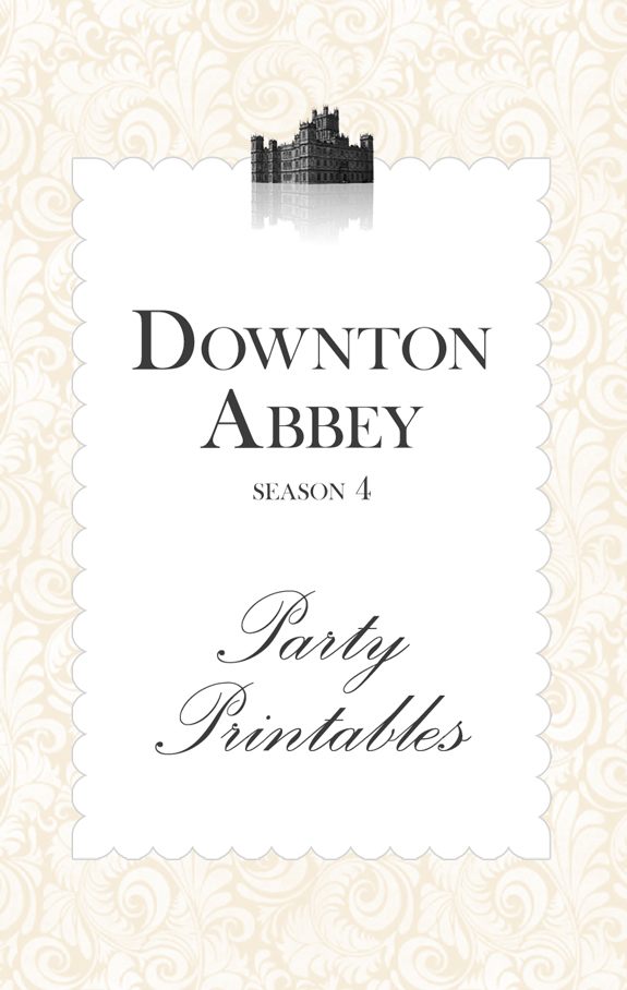 Downton Abbey Season 4 Party Printables by The Pixel Boutique