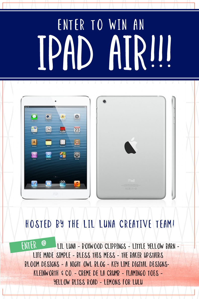 iPad Air Giveaway - Enter to win today on { anightowlblog.com }