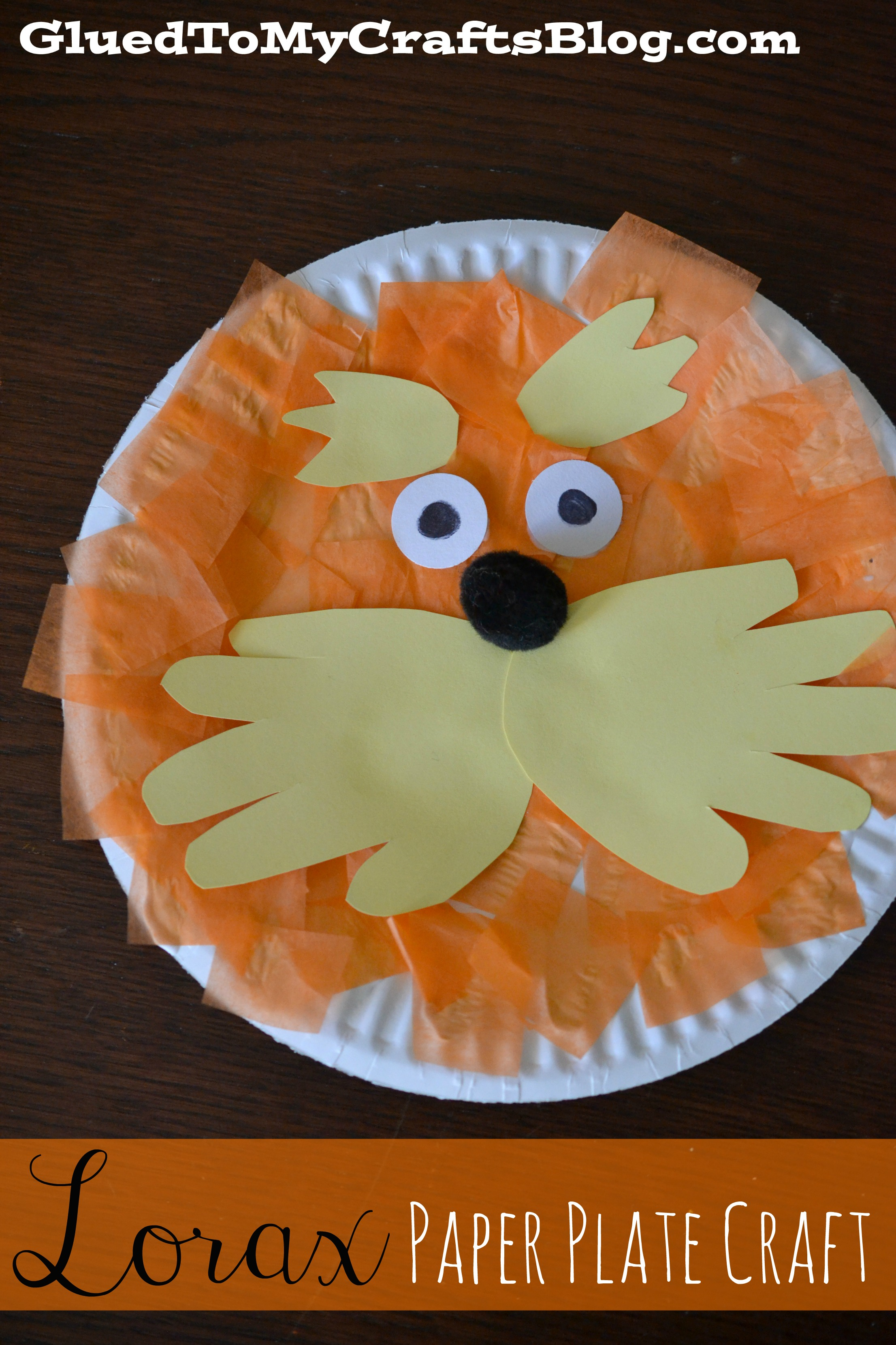 Celebrate Dr. Seussu0027 birthday in style with this adorable Lorax Paper Plate Craft! & Lorax Paper Plate Craft | A Night Owl Blog